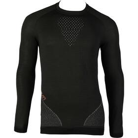 UYN Fusyon UW LS Shirt Herren caviar/beige/bordeaux
